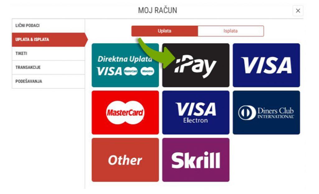 Uplate na MeridianBet onlajn kazinu pomoću iPay-a