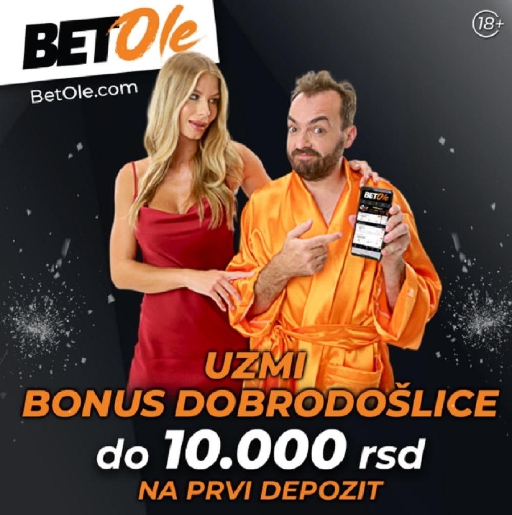 BetOle uzmi bonus dobrodošlice na prvi depozit