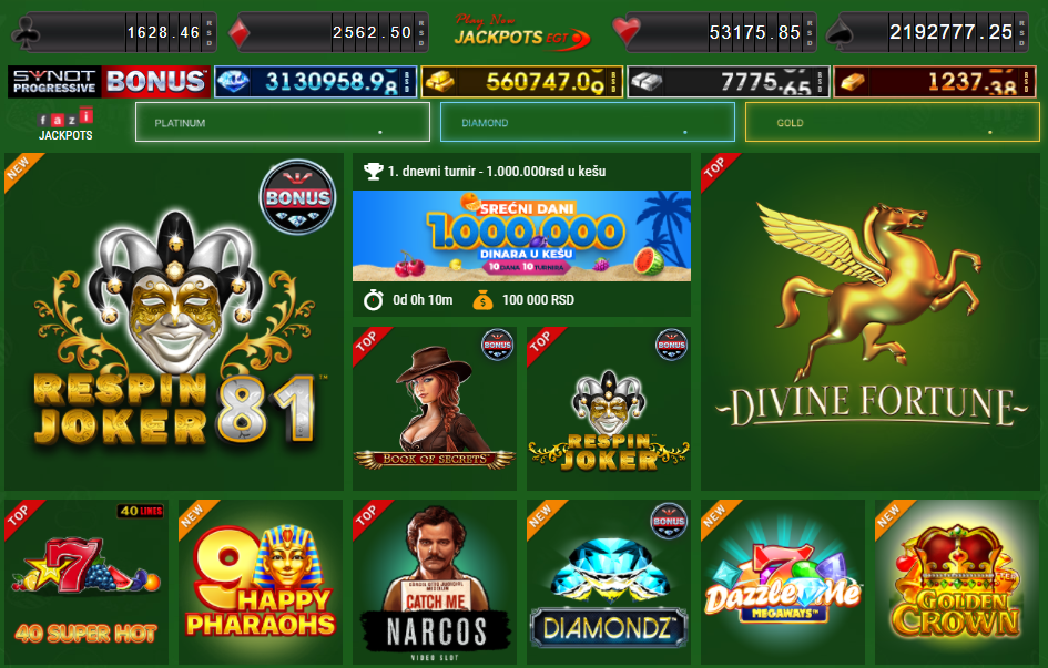 Igre u MaxBet onlajn kazinu