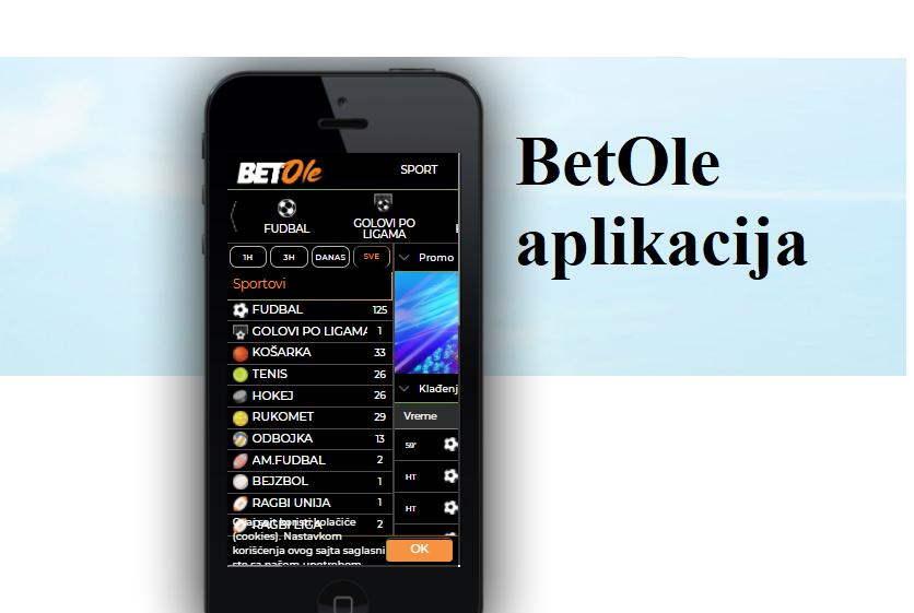 BetOle aplikacija