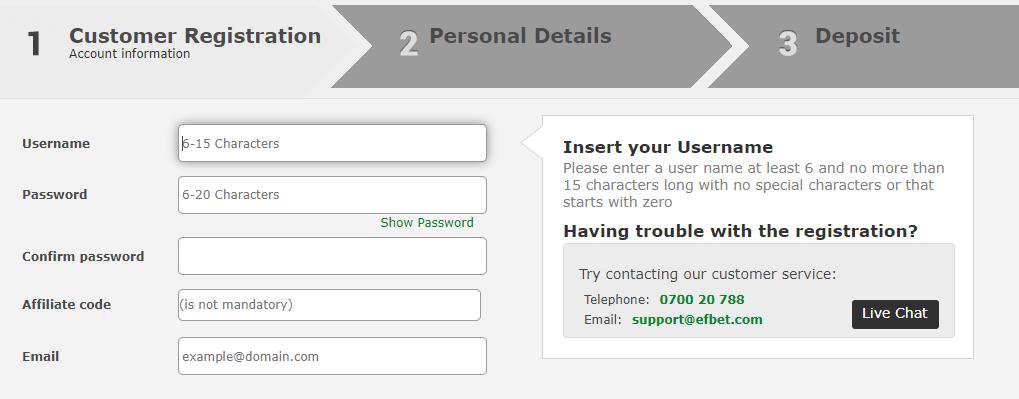 Kako se registrovati u Efbet onlajn kazinu?